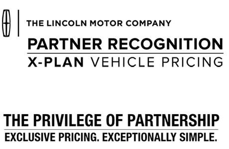 Partner Recognition X–Plan Vehicle Pricing